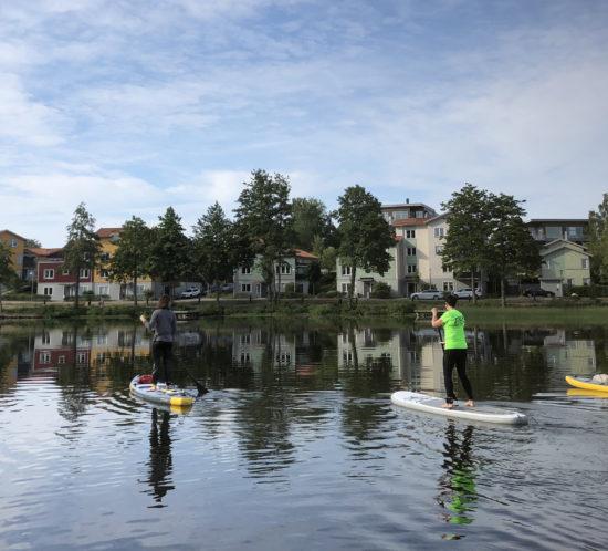 Grupp-SUP-tur med frukost 06.15 på morgonen. Foto: winnforce.se